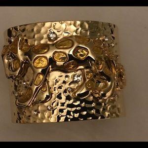 Lilly Pulitzer lion rhinestone cuff
